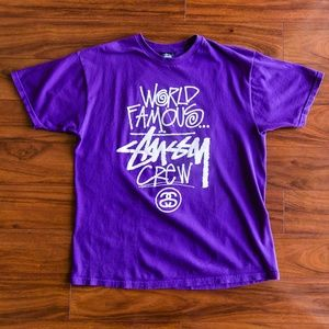 World Famous Stussy Crew Graphic Tee